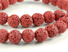 """12MM RED VOLCANIC BASALTIC LAVA GEMSTONE ROUND 12MM LOOSE BEADS 16"""""""