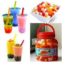 Composite Jelly Topping for Bubble Boba Milk Tea Fat Free Fruit Konjac