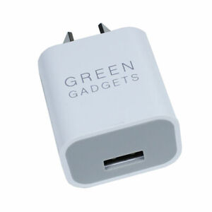 Genuine Green Planet 5V 2.1A 10W USB Wall Adapter For iPhone & Android 2 Pack