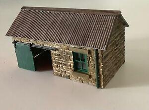 Scratch built 009 narrow gauge platform goods shed