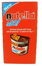 12 X FERRERO NUTELLA & GO HAZELNUT CHOCOLATE SPREAD COCOA & BREADSTICKS KIDS FUN