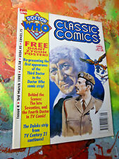 Doctor Who Classic Comics Issue 4, 1993 GIANT Zygon POSTER INCLUDED~tv show