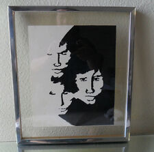 Vintage wall art sketch wall hanging Jim Morrison The Doors signed modern contem