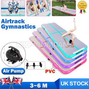 3/6M Inflatable Air Track Tumbling Gymnastic Mats Floor Tumble Training Pump UK