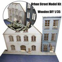 1/35 Europäisch Städtische Straßenszenen Diorama Hölzern Assembly Modell Kit DIY
