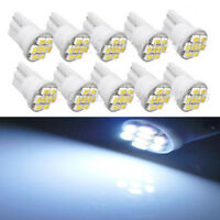 10PCS White 8 LED Bulb T10 W5W 194 168 501 3020 SMD Car Wedge Side Light Lamp