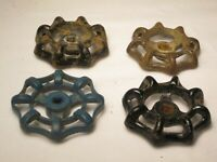 4 vintage outdoor faucet handles handle lot hose bib turn knobs knob