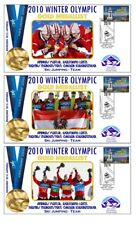 AUSTRIA 2010 OLYMPIC TEAM SKI JUMP SET OF GOLD COVERS