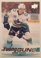 2019-20 Upper Deck Series 1 Quinn Hughes #249 Young Guns YG RC Rookie Canucks