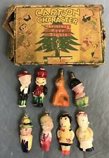 1930's Comic Character Christmas Bulbs w/ Box