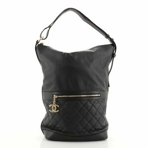 Chanel Casual Style Hobo Quilted Caviar Large
