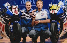 COLIN EDWARDS HAND SIGNED FIAT YAMAHA 6X4 PHOTO.