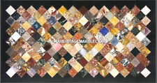 Exclusive Multi Marble Dining Table Mosaic Precious Inlaid Decor Furniture H5267