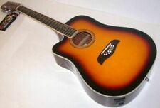 Oscar Schmidt Od312Cetslh Lefty Sunburst Acoustic Electric 12 string Guitar