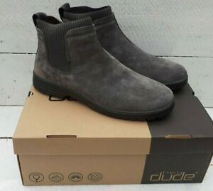 Men's Hey dude Scott Suede Shadow Grey Pull On Chelsea Boots
