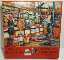 "1000 Piece Jigsaw Puzzle Tom Wood Good Old Days General Store 27X20"" Complete"
