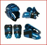 Blue ProForce Sparring Gear Set Head Hands Shin Foot Guards Karate Taekwondo