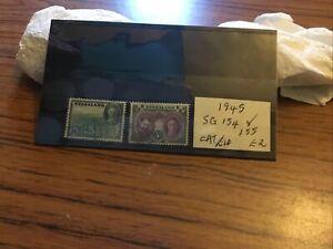 Nyasaland Used Stamps Sg154/155 Circ 1945