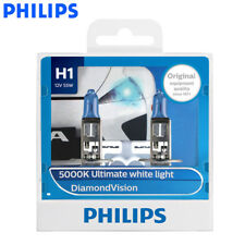 2X Philips H1 12258DV Diamond Vision AutoHeadlight 5000K White Lamps, US Seller