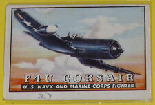 F4U Corsair U.S. Navy and Marine Corps Fighter #34 Trading Card Great Pic See!