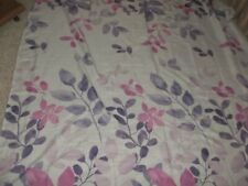 NWOT Purple Floral Shower Curtain Fabric ESSENTIAL HOME