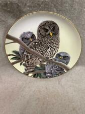 "New ListingVintage Collector'S Plate ""Barred Owl"" 688 / 5000 Wildlife International 1984"