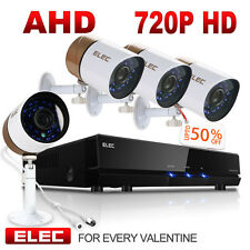 Elec 1080N 4Ch Dvr 720p Outdoor Video Wire Home Security Camera System Lowest