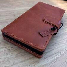 Samsung Galaxy S8 Series One en Cuir Véritable Exécutif Wallet Book Case Tan