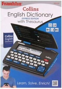 damaged box  - Franklin DMQ221 Collins English Dictionary with Thesaurus