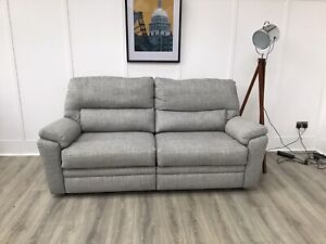 Parker Knoll Large 2 Seat Seater Power Reclining Sofa In Green Fabric (Hampton)