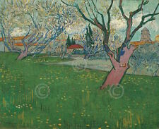 Vincent van Gogh Orchards in Blossom view of Arles 1889 Print Poster 19x13