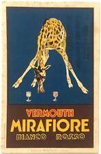 VERMOUTH MIRAFIORI BIANCO ROSSO cartolina Pubblicitaria illustratore Loris
