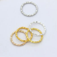 50p Twisted Round Open Ring Jump Ring Spacer beads connectors DIY craft findings