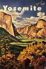 Yosemite California Sierra Nevada Mountains Travel Vintage Poster Repro FREE S/H