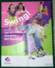"""VINTAGE  GIRL SCOUT - 2001 COOKIE POSTER - 17 x 22"""""""