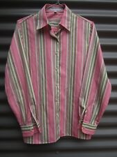 Foxcroft Women's Multi Coloured Striped Long Sleeve Shirt Label Size 4
