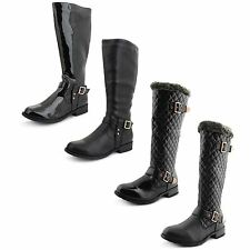 Zip Knee High Boots 100% Leather Unbranded Shoes for Women