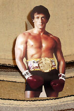 """Sylvester Stallone """"Rocky"""" Balboa Movie Tabletop Display Standee 10"""" Tall"""