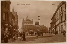 PEEL SQUARE BARNSLEY PHOTOGRAPH POSTCARD A VIEW BY REGENT REAL PHOTO SERIES