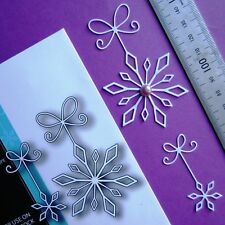MEMORY BOX ~ PRECiOUS SNOWFLAKES ~ THiN 85 & 60mm CUTTiNG DiE(S) ~ CHRiSTMAS ~