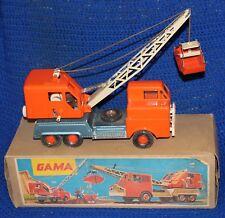 Vinatge Western German Gama Steel Bucket Clam Shell Crane Truck with Box
