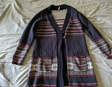 Hanna Andersson Woman's Size L   Sweater/Coat 2 Button Closure Navy