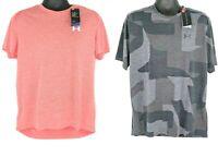NEW Lot of 2 Under Armour Mens Short Sleeve HeatGear Loose Active Shirt L XL NWT