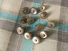 12 boutons de bottines anciens nacre abalone grise de 9 mm  env. époque NAP III
