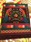 South American tapestry handwoven 18 x 14 inch Vibrant colors