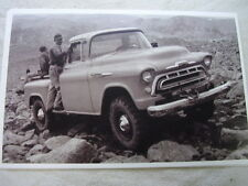 1957  CHEVROLET PICKUP 4WD   11 X 17  PHOTO  PICTURE