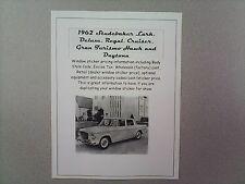1962 Studebaker full-line cost/dealer retail sticker pricing for car + options $
