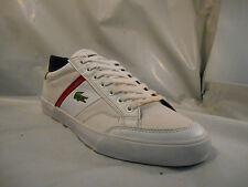 Lacoste Fairlead White Leather Fashion Sneakers Men's Size 8 M