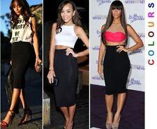 Knee Length Viscose Patternless Petite Skirts for Women