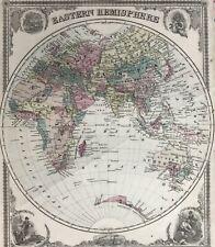 Johnson's Map Of Eastern Hemisphere. 1861. Hand colored.